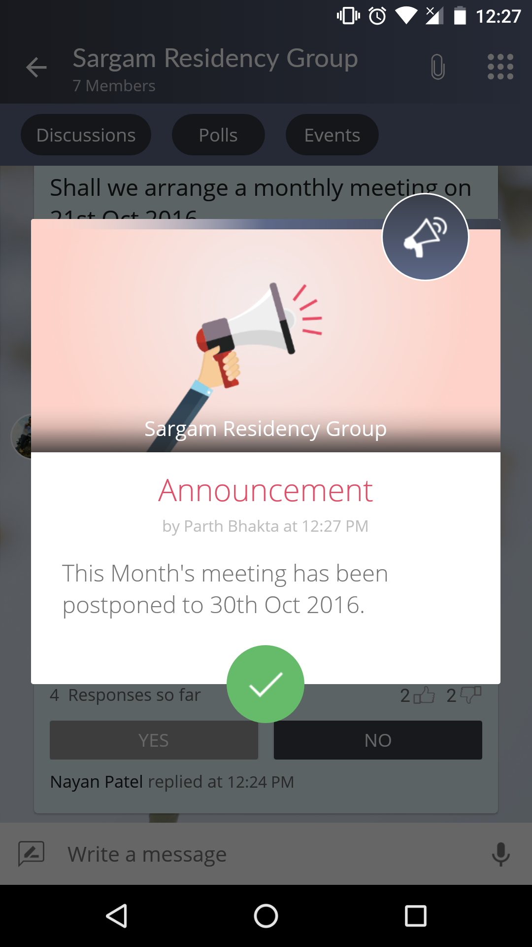 BETTER INTERACTION WITH ANNOUNCEMENTS